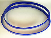 36 X 1.75 Set Of 2 Band Saw Tires Blue 1/8 Ultra Thick Made In Usa