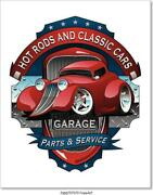 Hot Rods And Classic Cars Garage Vintage Art Print Home Decor Wall Art Poster