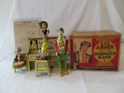 Unique Art Lil Abner Windup Piano Group Near Mint W/original Box And Instructions