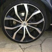 22x9 Lexani Lx4 Lust Black/machined Face And Ring With Tires 3 Rims,local Pickup