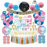 Gender Reveal Party Supplies 120 Pcs By Serene Selection Baby Shower Deco