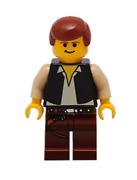 Lego Han Solo 10123 3341 Brown Legs With Holster Pattern Star Wars Minifigure