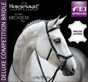 Horseware Rambo Micklem Deluxe English Leather Competition Bridle Black/brown