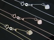 Pure 10k Gold Adjustable D/c Rolo Necklace With Heart Solid Real Gold Chain