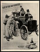 1944 Kinsey Whiskey - Retro Carraige - Gift Of The Gay Nineties Vintage Ad