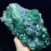 2684g Extreme Transparent Purple Phantom Green Trapezoidal Fluorite Crystal