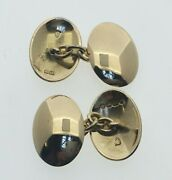 18ct Yellow Gold Oval Domed Chain Link Cufflinks 17.2 X 12.5 Mm 9.3 Grams 2004