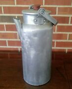 Vintage Caracan Aluminum Water Cannister With Lid Camping Farmhouse Industrial