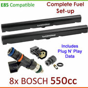 8x Bosch 550cc E85 Injectorsand Fuelrail Setup For Holden Adventra Cx8 Lx8 Vy 5.7l