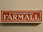 Vintage Rare Mccormick Deering Farmall Cement Brick Sign 16and039 X 5