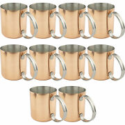 Copper Moscow Mule Mug Stainless Steel Lining Copper Cups Copper Mule Mugs 10pk