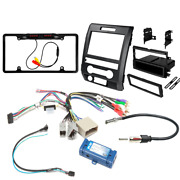 Car Stereo Dash Kit For F-150 2009-12 W/ Steering Wheel Control Interface