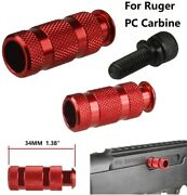 Aluminum Bolt Extended Handle For Ruger Pc Carbine Anodized Red Finish
