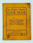 Watson Hull Mabel The Golden Chapter Cook Book Eastern Star Community Mason 1907