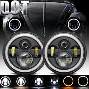 Dot 300w 7 Inch Round Led Headlights Projector Fits For Vw Beetle Classic