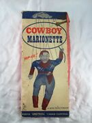 Cowboy Marionette Puppet Toy By Peter Product Vintage Old Empty Box Package Only