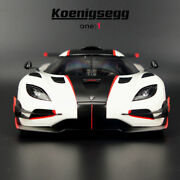 Koenigsegg One1 Resin Diecast Car Model 1/18 Autoart White Collection Gifts