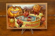 Antique Halloween Postcard Raphael Tuck And Sons, Series 160 Jols Jumping In Water
