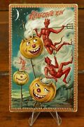 Halloween Postcard Raphael Tuck And Sons Series 160 Creatures And Jols Oct 31st