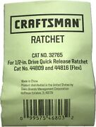 New Craftsman Ratchet Repair Kit 32765 For Ratchets 44809 And 44816 Flex