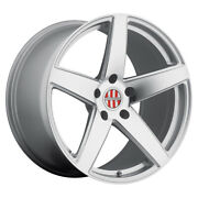 Victor Equipment Baden 18x11 5x130 Et55 Silver With Mirror Cut Face Qty Of 4