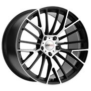 Cray Astoria 19x10 5x120.65 Et37 Gloss Black With Mirror Cut Face Qty Of 4