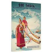 Niue 2015 1 Vintage Mini Posters - See India 1/2 Oz Silver Coin