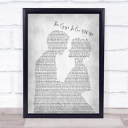 This Guyandrsquos In Love With You Grey Song Lyric Man Lady Bride Groom Print