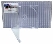 100 Usdisc Cd Jewel Cases Standard 10.4mm Single 1 Disc Clear