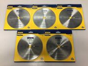 Lot Of 5 Irwin 11840 7-1/4 Inch 140t Classic Circular Saw Blade Plywood And Veneer