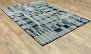 Atlas By Oriental Weavers. Abstract Casual Area Rug. Bluewhite 752b