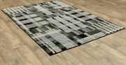 Atlas By Oriental Weavers. Abstract Casual Area Rug. Black White 752c