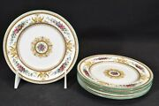 Wedgwood Columbia Medallion Green Trim W595 Set Of 5 Bread And Butter Plates