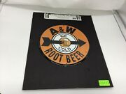 A And W Root Beer Ice Cold Collector Metal Signs Lithographed Steel Metal