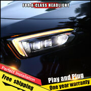 For Benz A-class Headlight Assembly Bi-xenon Lens Double Beam Hid Kit 2019-2020