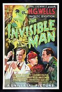 The Invisible Man ✯ Cinemasterpieces S2 Horror Movie Poster Limited Edition