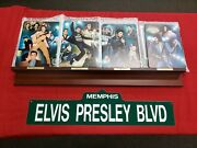 Lot Of 4 Bradford 2015 Elvis Presley Plates And Coa With Wooden Stand + Free Sign