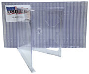 100 Usdisc Cd Jewel Cases Standard 10.4mm Double 2 Disc Clear