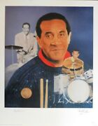Max Roach Jazz Musician Signed Le 16x20 Christopher Paluso Lithograph Jsa Auth.