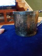 Antique Poole Company Silver Plated Child's Cup Engraved Adp-1908