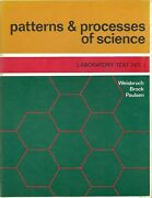 Patterns And Processes Of Science - Laboratory Text Nos. 1 And 2 - Lot Of 2 Books