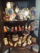 Estate Lot Miniature High Heel Shoes, Picture Frames, Victorian And Cowboy Boots