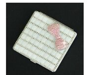 Womenand039s Cigarette Lighters Cases Sets Silver Diamond Rhinestones Electronic Usb