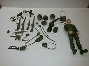 Vintage Marx Military Fighting Figure With Lots Of Accessories