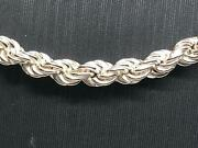 925 Sterling Silver Rope Genuine Chain Necklace 14mm Wide 263032