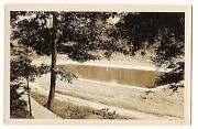 Rppc Cement Pond Man Made Swimming Pool Lake In Woods Vintage Postcard Ansco Gf