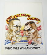 1991 Ring Magazine Original Cover Art Mike Tyson Holyfield 100000000 Fight