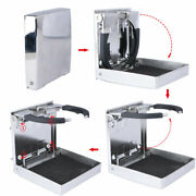 4x Marine Stainless Steel Cup Holder With Screws Portable Folding Drink Holder