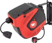 Welzh Werkzeug Retractable Electric Cable Reel Extension Cord 15m 829-ww