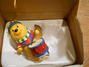 Disney Vintage Winnie The Pooh Christmas Ornament Figurine Collectible With Box